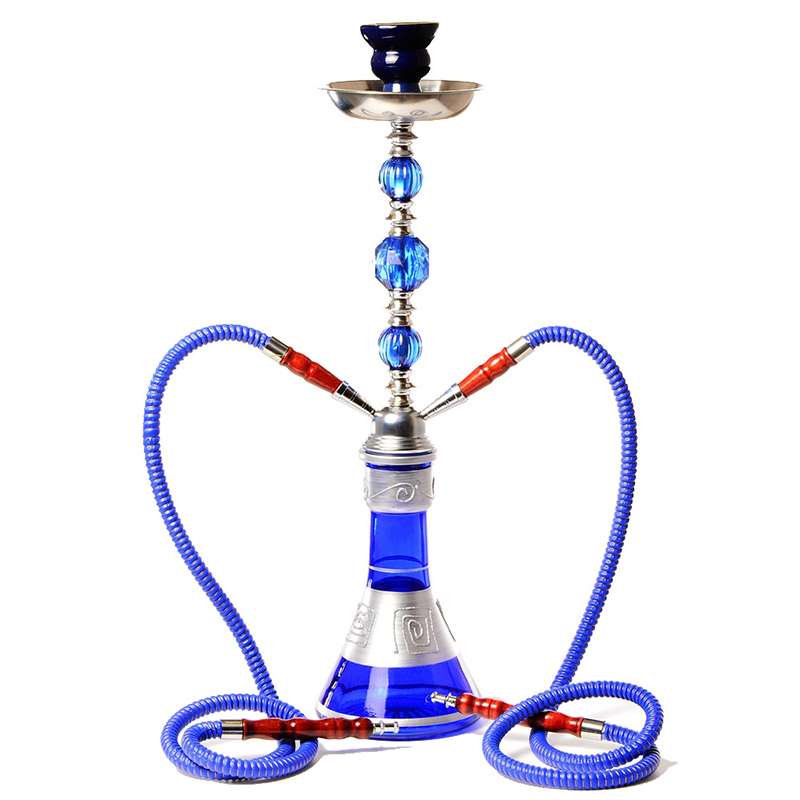 Narguilé arabe ensemble grand verre Double Tube narguilé narguilé complet Chicha narguilé Chicha tuyau étanche accessoires cadeau