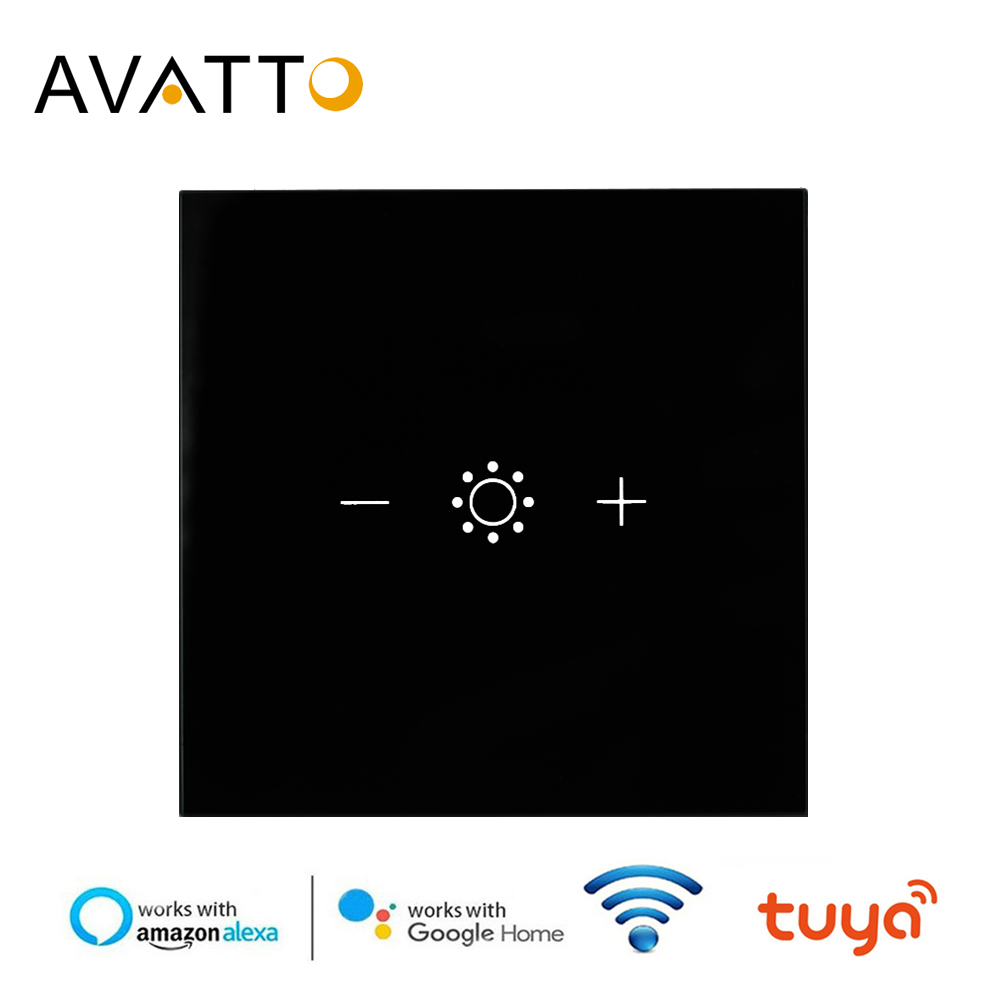 AVATTO Wifi Led Touch Dimmer Light Switch Eu Tuya Remote Control Smart Strip Bulb Dimmer Switch Amazon Alexa Google Assistant