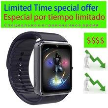 3 gün özel teklif akıllı saat GT08 yükseltilmiş pil dokunmatik ekran Bluetooth kamera müzik erkekler bilek smartwatch