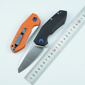 Image 1 - Lemifshe zt 0456 tático faca dobrável g10 lidar com d2 lâmina rolamento flipper caça bolso faca de acampamento sobrevivência ferramentas edc