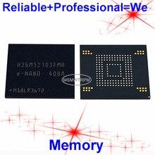 H26M52103FMR BGA153Ball EMMC 16GB โทรศัพท์มือถือหน่วยความจำใหม่และมือสองบัดกรีลูกบอลทดสอบ OK