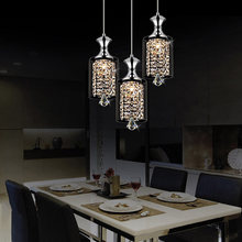 Led-Pendant-Light Hanging-Lamp-Decor Crystal Home-Lighting-Fixture Glass-Design Dining-Room