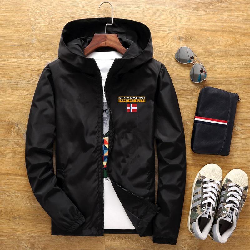 Men's Street Waterproof Jacket Parker Aviator Hooded Windbreaker Thin Zipper Casual Spring Autumn 2021 3