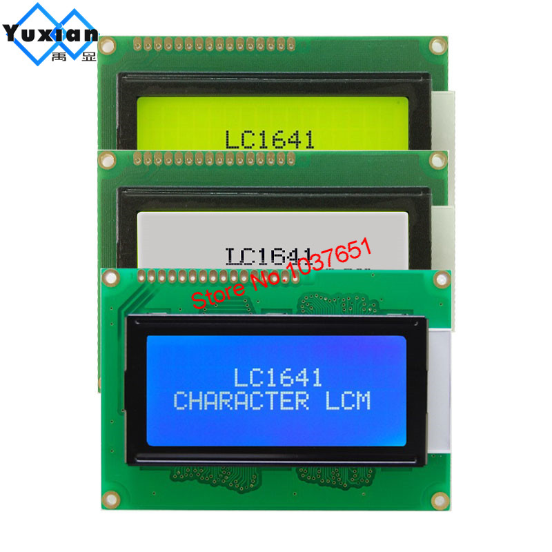 <font><b>1604</b></font> 16*4 <font><b>lcd</b></font> display module blue green white and black letters LC1641 SPL780D1 good quality image