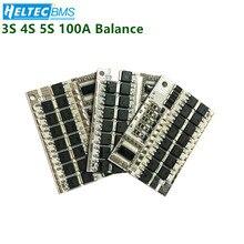 3S/4S/5S Balance BMS 12V 16.8V 21V 100A 18650 Li-ion/ Lifepo4/Lithium iron phospha/LFP Battery Protection Circuit Board 12v 100a 4s bms li ion lifepo4 life lmo lithium battery 18650 li ion charger battery protection circuit board 14 4v 14 8v 16 8v
