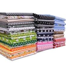 7 sztuk/partia 25*25cm mieszane kwiatowy drukowane tkaniny bawełniane tkaniny różne wzór materiał DIY domu ręcznie szycia Patchwork akcesoria