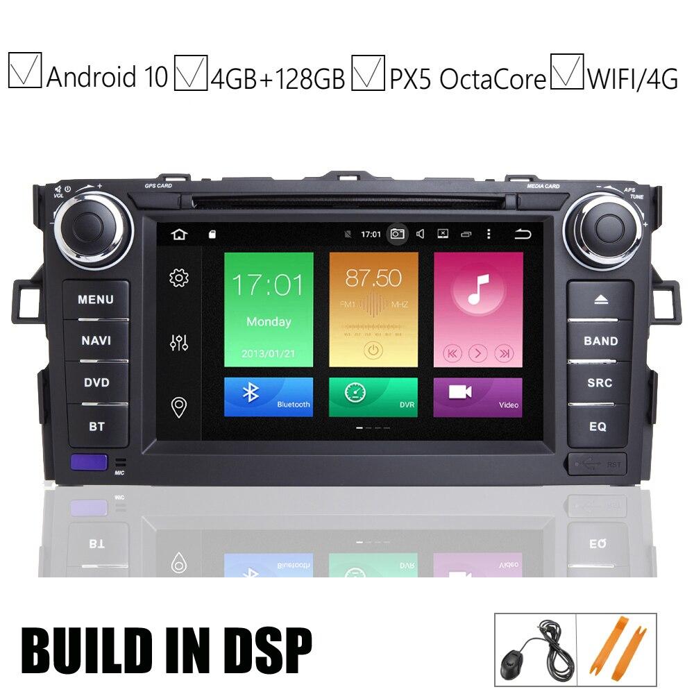 7 IPS カーアンドロイド 10.0 の Dvd GPS プレーヤートヨタオーリス用 2006 2007 2008 2009 2010 2011 車両ナビゲーションライドウ BT Wifi/4 4G マップ DSP