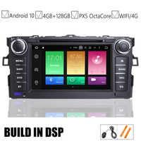 7 IPS voiture Android 10.0 DVD GPS lecteur pour Toyota AURIS 2006 2007 2008 2009 2010 2011 véhicule Navigation Raido BT Wifi/4G carte DSP