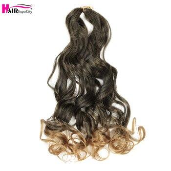 20 Cal luźna fala szydełkowe włosy syntetyczne do przedłużania włosów na warkocze wstępnie rozciągnięte włosy plecione dla czarnych kobiet włosy Expo City