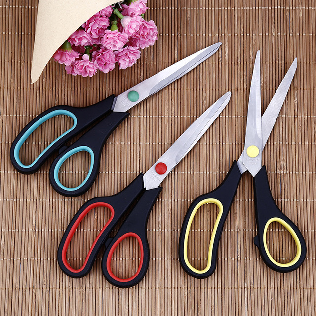 8.5inch Tailor's Scissors Multipurpose Stainless Steel Sewing Scissors Household Crafts Office Home Clothing Tool Cuts Supplies