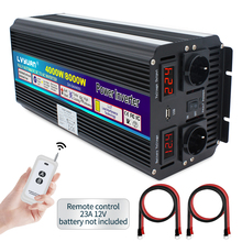 Sine-Wave Power-Inverter 8000W Modified Peak AC 220V-240V 12V/24V To DC Dual Led-Display
