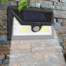 Солнечный светильник s наружный датчик движения Ночной охранный настенный светильник 30 32 светодиодов COB водонепроницаемый садовый светильник для передней двери двора уличный светильник для крыльца