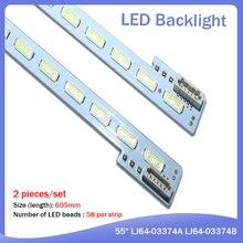 FOR Toshiba 55LED Article lamp LJ64-03374B 2012SLS55 7030 58 R REV1.2 1piece=58LED 605MM