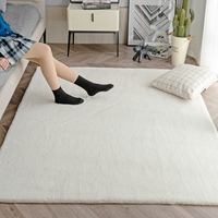 White Fur Rugs For Bedroom Shaggy Floor Mat Faux Rabbit Hairy Kids Solid Color Fluffy Area Rug Soft In The Living Room Carpet