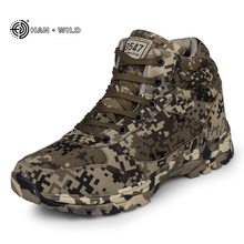 2019 Winter Men Boots Camouflage Warm Wool Cotton Army Combat Tactical Military Shoes