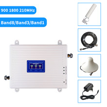 2G 3G 4G Repeater LTE Cellular Signal Booster Mobile Amplifier Tri Band Repeater 900 1800 2100 2600 GSM Repeater DCS WCDMA