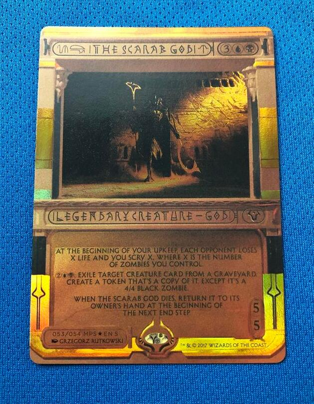 The Scarab God Invocations (MP2) Golden Holofoil Magician ProxyKing 8.0 VIP The Proxy Cards To Gathering Single Mg Card.
