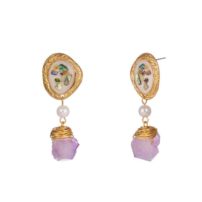 stone pendant earrings