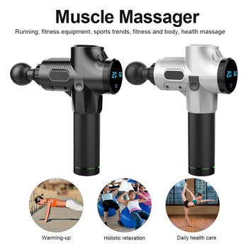 Muscle Massage Gun Electric Muscle Relaxation Deep Tissue Massager Therapy Gun Exercising Muscle Pain Relief Body Shaping 2019