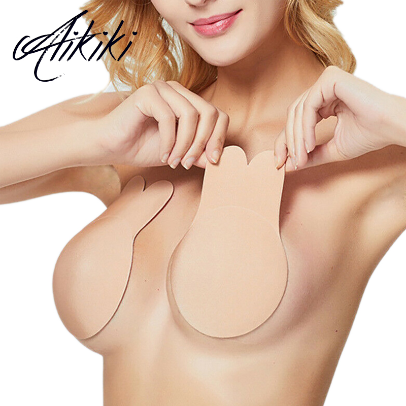 1Pair Reusable Silicone Invisible Breast Lifting Bra Bust Nipple Cover Sticker