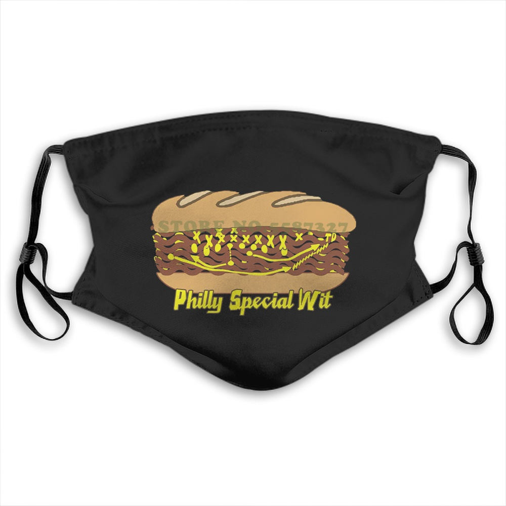 Face Mask Philadelphia Cheesesteak Philly Philly Special Td In Cheese New Top Quality Summer Hot Sale Print Diy Masks image
