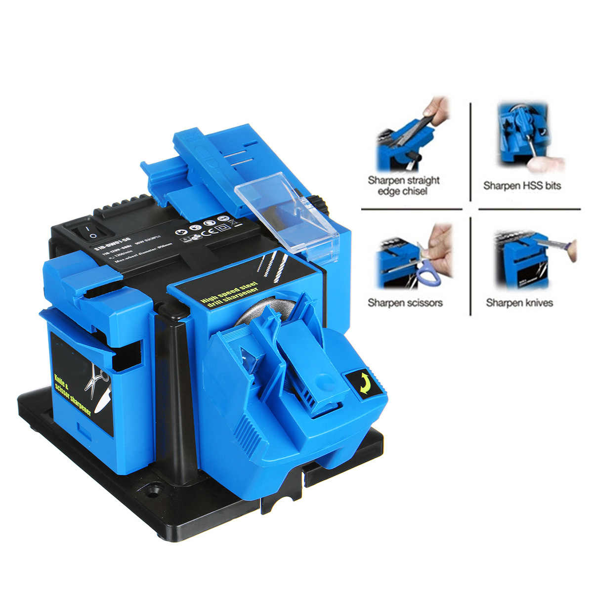 Multifunction Electric Knife Sharpener Drill Sharpening Machine Knife & Scissor Sharpener Power Household Grinding Tools EU/US
