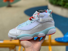 New jordan 6 homme retro basketball shoes sneakers woman shoes Aj6 White Pink AJ6 Rings GS Ice blue 323399-104(China)