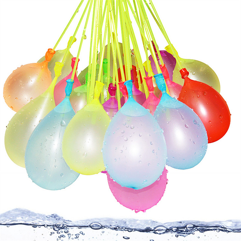 Water Balloons 111pcs/bag Summer Outdoor Water Bombs Quick Fill Latex Game Toy 500Pcs Water Balloons Supplementary Package