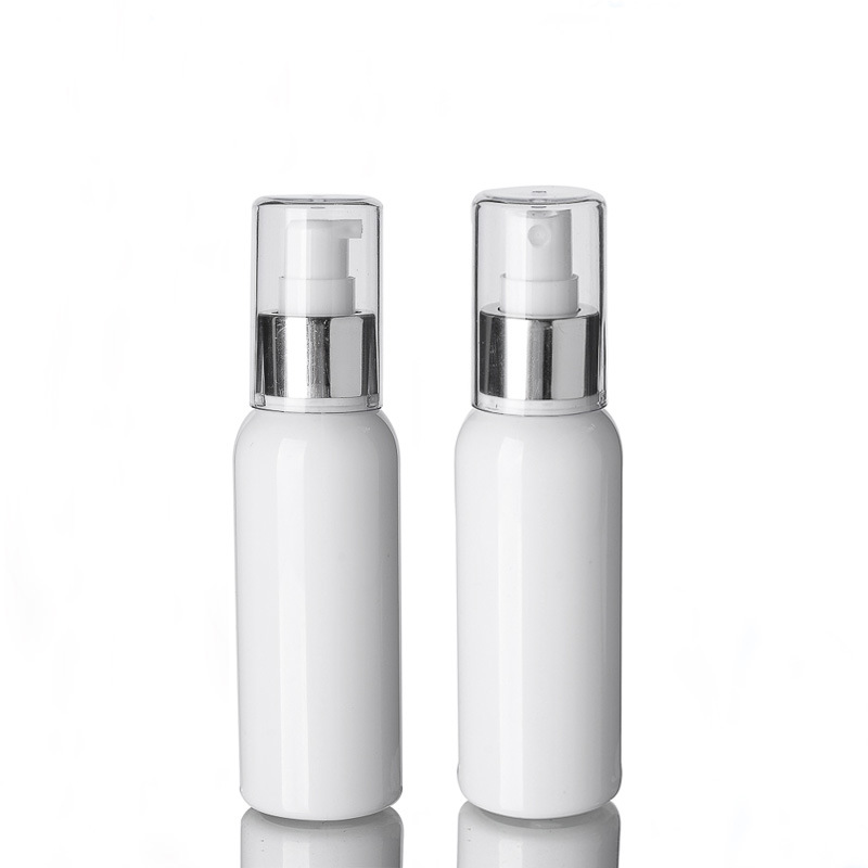 1pcs White PET Plastic Bottle Alumina Full Cover Spray Emulsion Bottle Travel Packaging Empty Bottle 100ml