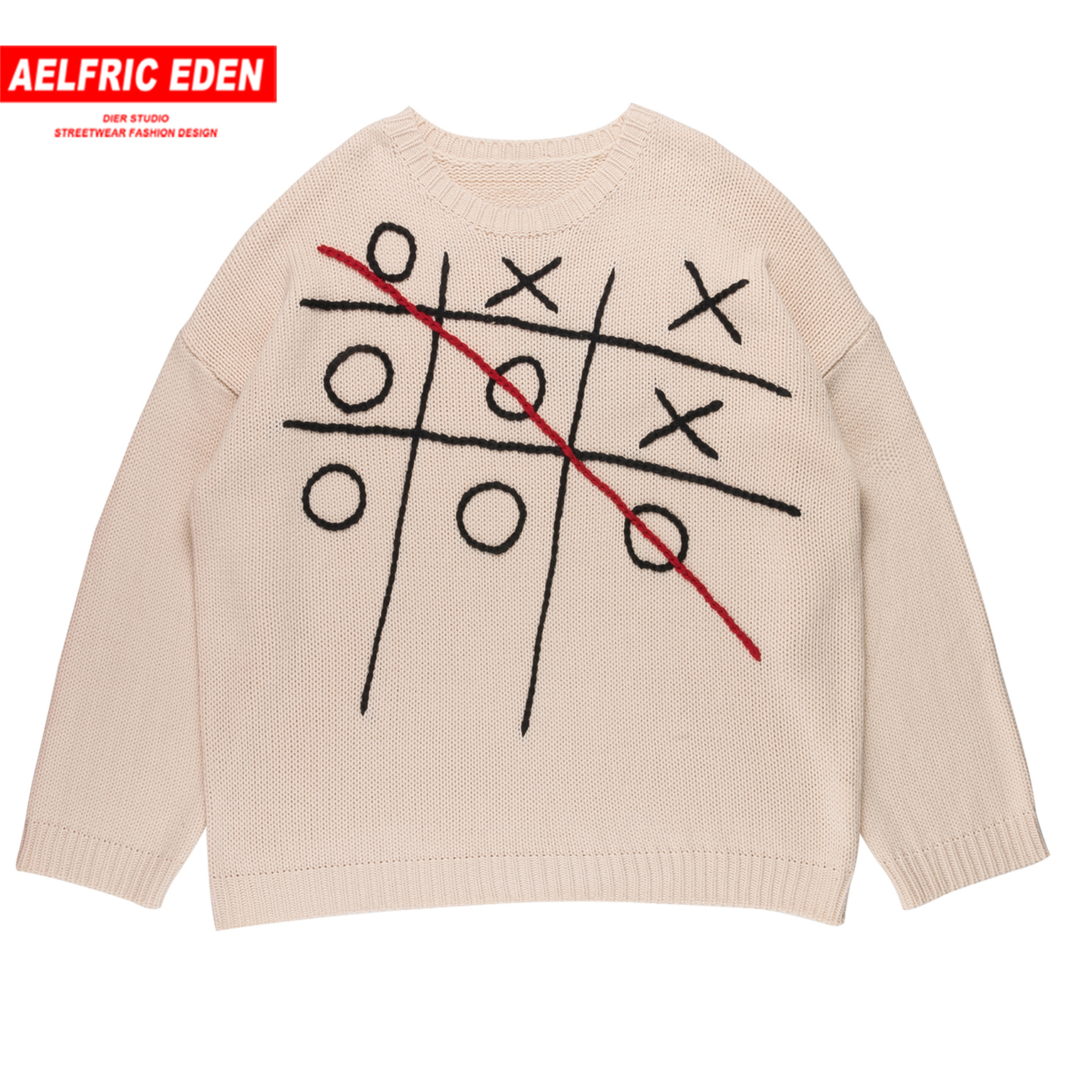 Aelfric Eden Vintage Game Knitted Men Sweater 2019 Autumn Winter Harajuku Tops Hip Hop Streetwear Casual Oversized Male Pullover