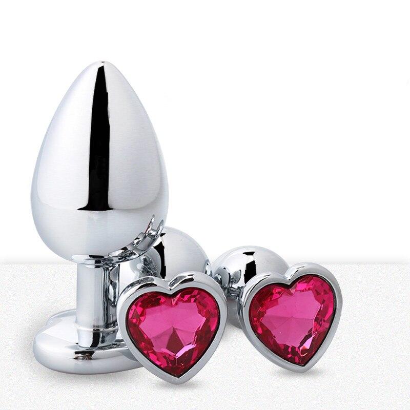 Анальные игрушки в форме сердца, металл для женщин, интимные изделия для взрослых, Мужская Анальная пробка, анальная пробка из нержавеющей с...