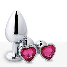Brinquedos anais em forma de coração metal para mulher adulto produtos de sexo masculino butt plug stainles aço anal plug sexo vibrador anal dildotoys