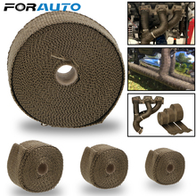 Bande de Protection thermique en fibre de verre pour moto, 5cm x 5M, 10M, 15M, Protection thermique pour échappement