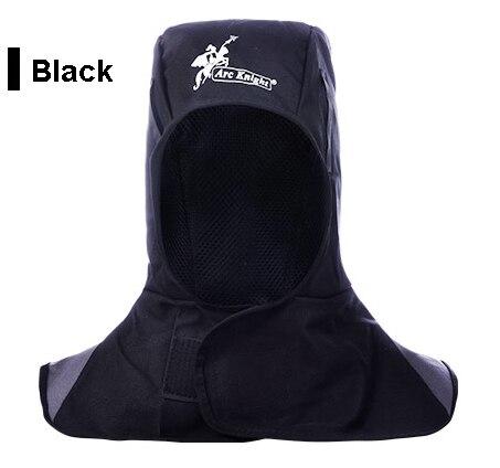 Black FR Cotton Welding Hats Washable Fire Flame Retardant Helmet Comfort Neck Face Protection Hood Welder Cap