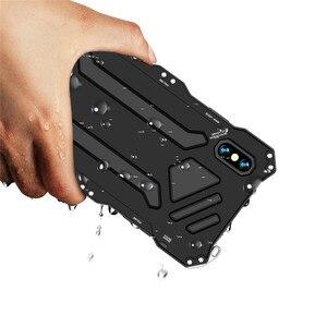 Image 3 - Funda protectora de doble capa para teléfono iPhone, carcasa de aleación de aluminio y Metal para teléfono iPhone XS Max XR X 6 6S 7 8 Plus 5 5S 5C SE