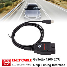 Galletto 1260 ECU Chip Tuning Tuning Tool EOBD Programmer ECU Flasher Green PCB FTDI FT232RL Chip Read Write Car ECU galletto 1260 ecu remap flasher tool eobd 2 obdii obd