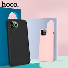 Étui pour iphone 11 en Silicone liquide dorigine HOCO Pro Max X XS XS Max XR couverture arrière Ultra mince