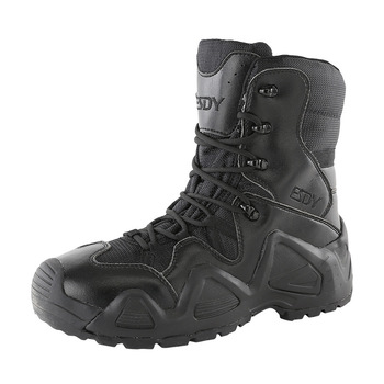 Men Tactical Boots Army Boots Mens Military Desert Waterproof Work Safety Shoes Climbing Hiking Shoes Ankle Men Outdoor Boots zyyzym men desert boots tactical military boots mens high top outdoors shoes army boot zapatos ankle lace up combat boots men