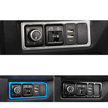 Lsrtw2017 Car Headlight Switch Panel Frame Trims for Geely Boyue Atlas 2016 2017 2018 2019 2020 Interior Mouldings Accessories