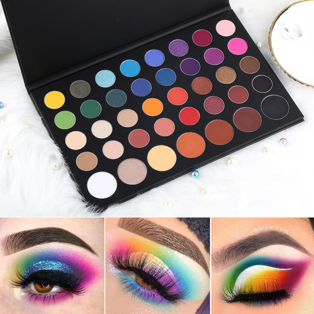 MIAOOL Eyeshadow Palette 39Colors Glitter Shimmer Matte Makeup Eye Shadow  Highlight Nude Make Up Cosmetic Set