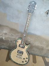 цена на free shipping New High quality Byron custom abalone electric guitar white pearl Mahogany body best custom guitar