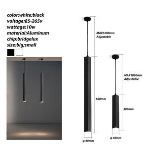 Image 5 - Luminária led ilha de cozinha, sala de jantar, bar, balcão de decoração, cilindro, lâmpadas penduradas, luminária downlight AC85 265V