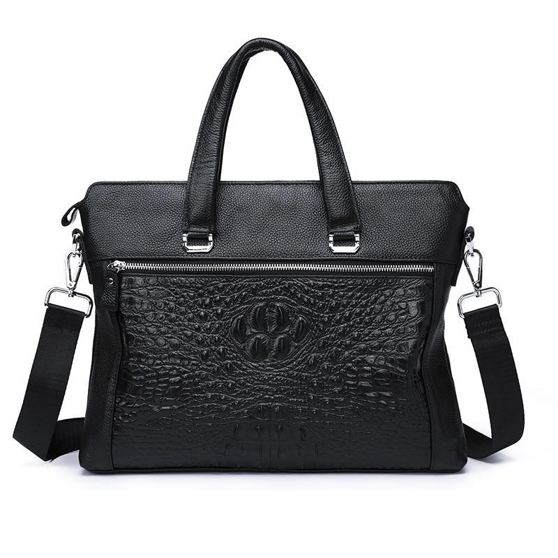 Leisure Time Genuine Head Layer Cowhide Male Package Handbag Soft Leather Man Single Shoulder Messenger Document Bag briefcase