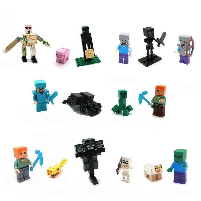 The Ghast Steve Zombie Minifigs Building Block Action Figures Compatible LegoINGlys Bricks Sets Toys For Children 1