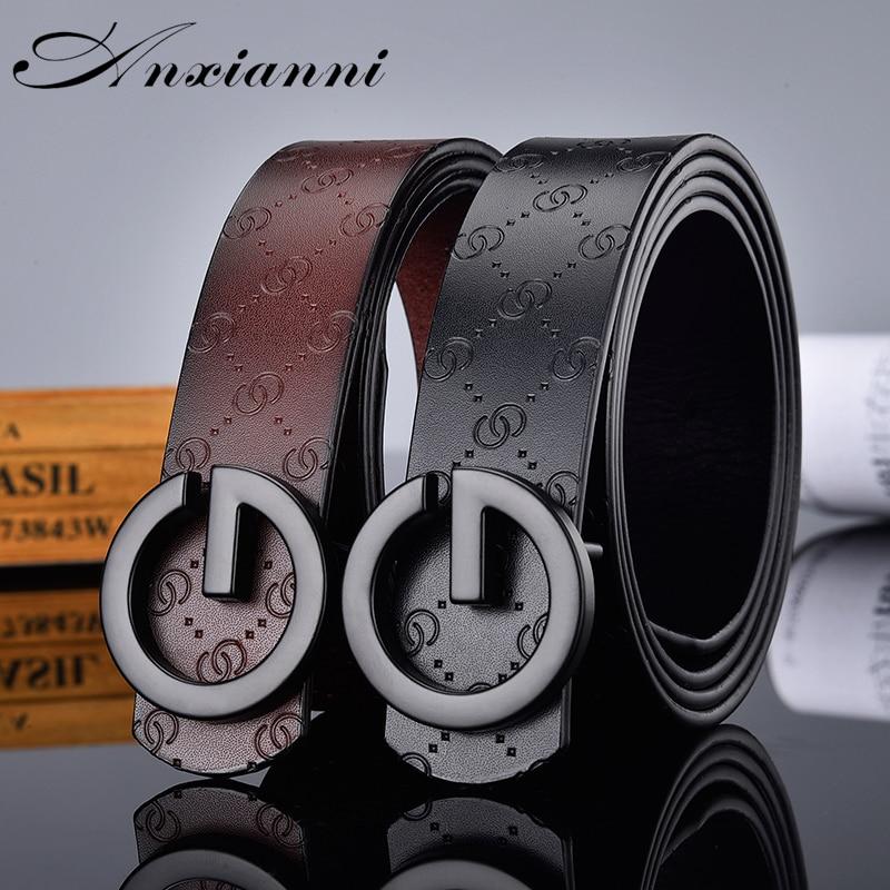 Hot Sale G Smooth Buckle Belt Luxury Belts Cowhide Genuine Designer High Quality Fashion Vintage Male Women Strap