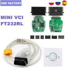 V15.00.028 j2534 mini vci para toyota mini vci j2534 MINI-VCI ft232rl para toyota tis mini vci techstream tis cabo