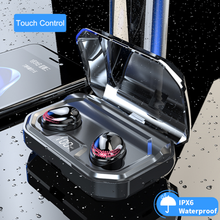 X10 TWS True Wireless Earbuds Bluetooth 5.0 Earphone IPX7 Waterproof with 3300 mAh charging box mic Mobile Phone Charger Holder