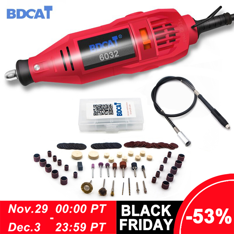 BDCAT Dremel Tool Electric Mini Drill Rotary Tool Variable Speed Polishing Machine with Dremel Tool Accessories Engraving Pen-in Electric Drills from Tools on