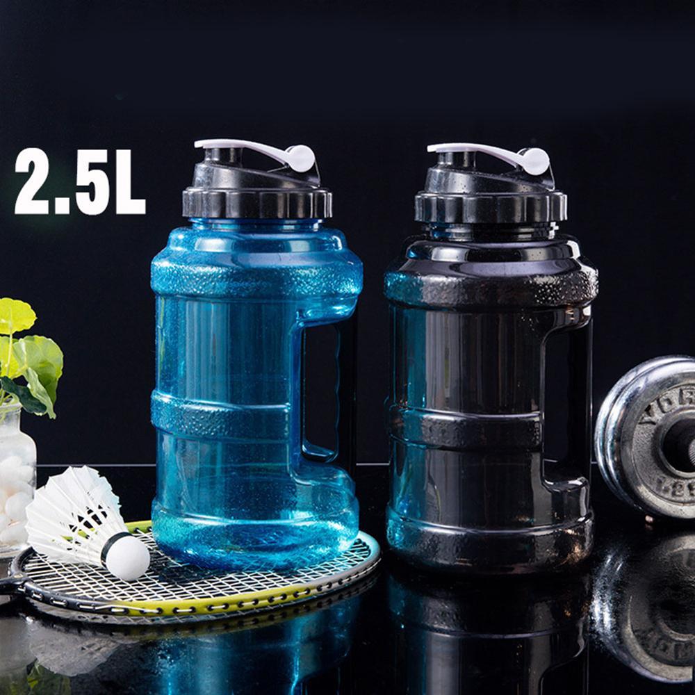 Кувшин для воды объемом 2,5 л, многоразовая бутылка для воды, пластиковая герметичная, без запаха, с широким горлышком, чайник для спортзала д...