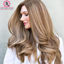Blonde Customized Wig Silk Base Top High Quality Unprocessed European Virgin Hair Wig Double Drawn Rosa Queen Hair For Women(China)
